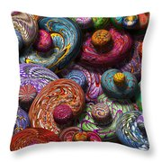 Abstract - Beans Throw Pillow