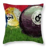 Abstract Billiards  Throw Pillow