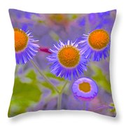 Abstract Blooms Throw Pillow