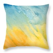 Abstract Blue And Yellow Throw Pillow