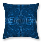 Abstract Blue Electric Circuit Future Technology_oil Painting On Canvas Throw Pillow