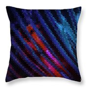 Abstract Blue Red Green Blur Throw Pillow