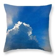 Abstract Blue Sky And Cloud Throw Pillow