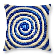 Abstract Blue Swirl Throw Pillow