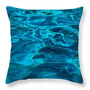 Abstract Blue Water Throw Pillow