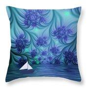 Abstract Blue World Throw Pillow