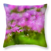 abstract Blurry pink flower background for backgrounds Throw Pillow