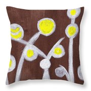Abstract Bobbles Throw Pillow