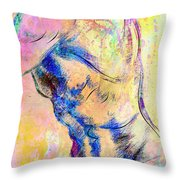 Abstract Bod 6 Throw Pillow