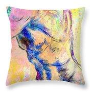 Abstract Bod 6 Throw Pillow