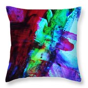 Abstract Bold Colors Throw Pillow by Andrea Anderegg