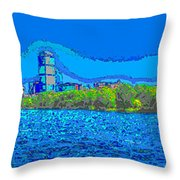 Abstract Boston Skyline Throw Pillow