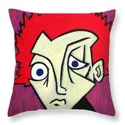 Abstract Boy Throw Pillow