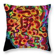 Abstract  Brain Throw Pillow