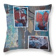Abstract Branch Collage Trio Throw Pillow