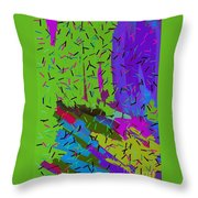 Abstract. Bring In The Noise Throw Pillow