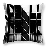 Abstract Building Fascade With Light And Shadow Throw Pillow