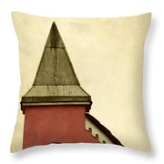 Abstract Building Throw Pillow