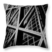 Abstract Buildings 2 Throw Pillow