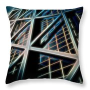 Abstract Buildings Throw Pillow