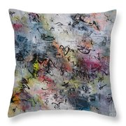 Abstract Butterfly Dragonfly Painting Throw Pillow