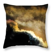 Abstract By Eclipse Throw Pillow