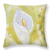 Abstract Calla Lily Throw Pillow