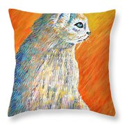 Jazzy Abstract Cat Throw Pillow