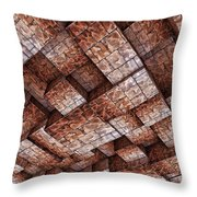 Abstract Ceiling Stone Construction  Throw Pillow