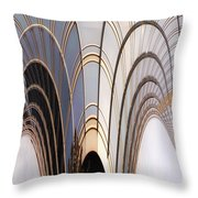 Abstract Chicago Sunrays On Trump Tower Throw Pillow