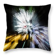 Abstract Christmas Lights - Burst Of Colors Throw Pillow