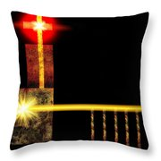 Abstract Church Throw Pillow