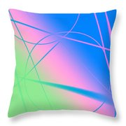 Abstract Circles And Lines Throw Pillow