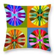 Abstract Circles And Squares 1 Throw Pillow