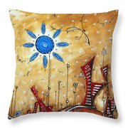Abstract City Cityscape Contemporary Art Original Painting The Lost City By Madart Throw Pillow