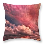 Abstract Clouds Throw Pillow
