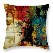 Abstract Collage 01 Throw Pillow