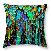 Abstract Color Falls Throw Pillow