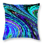 Abstract Color Flow Throw Pillow