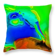 Abstract Color Fun Throw Pillow