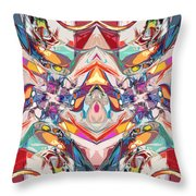 Abstract Color Mix Throw Pillow