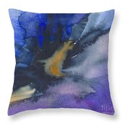 Abstract Color Splash Throw Pillow