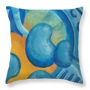 Abstract Color Study Throw Pillow