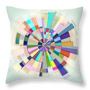 Abstract Color Wheel Throw Pillow