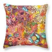 Abstract Colorama Throw Pillow