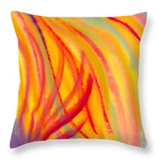 Abstract Colorful Lines Throw Pillow