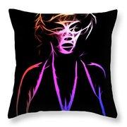 Abstract Colorful Monroe Throw Pillow
