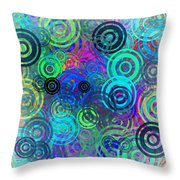 Abstract Colorful Rings Throw Pillow