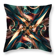 Abstract Colorful Shapes Throw Pillow