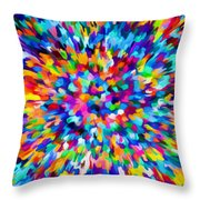 Abstract Colorful Splash Background 1 Throw Pillow